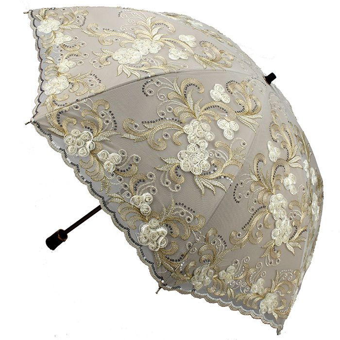 Women Embroidery lace Parasol Anti-UV/Sun Rain protection Lady Folding Umbrella #ZM #foldingParasolUmbrella