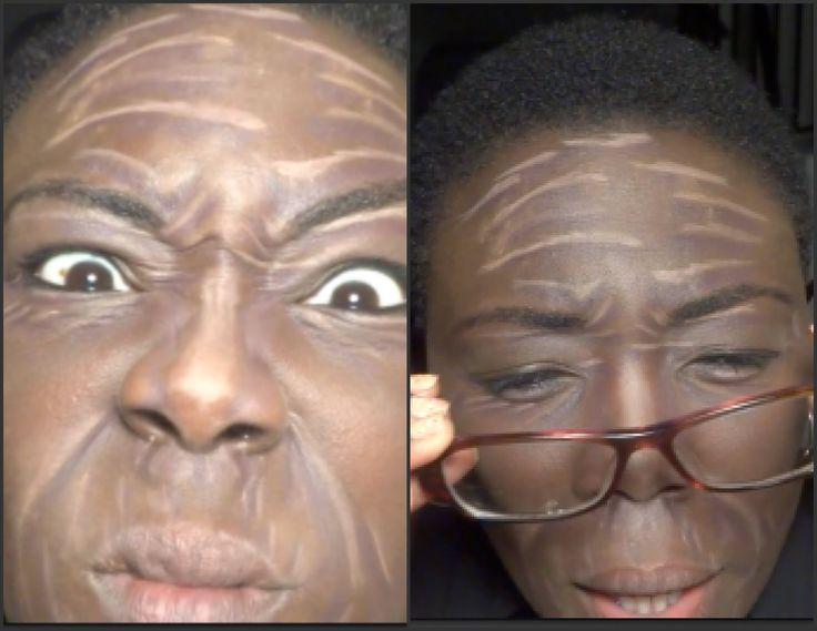 Old Age Makeup   Halloween Series   Dark-Skinned Divas