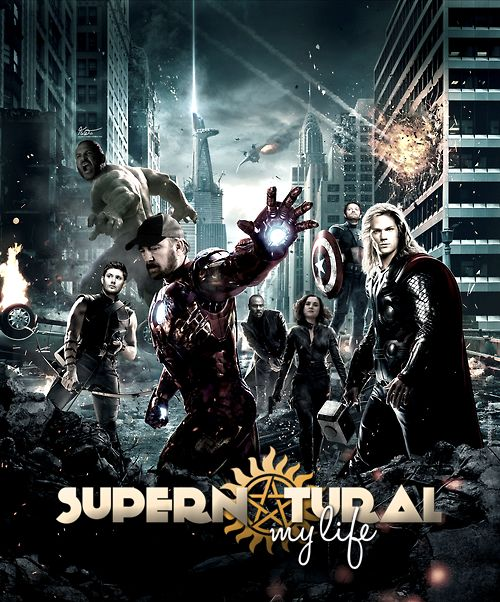 Supernatural. With Rufus as Nick fury, meg as black widow,Benny as the hulk, castiel as captain America, Bobby as iron man, Dean as Hawkeye and Sam as Thor of course