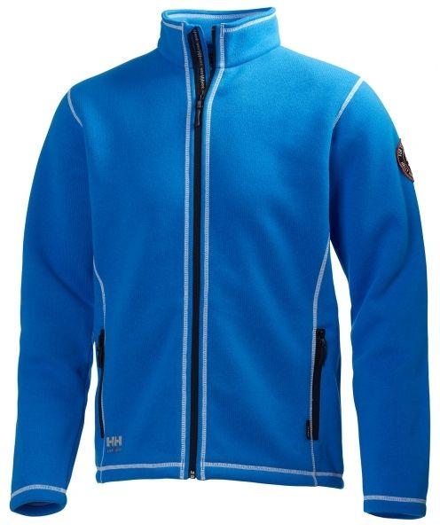 Lækker strikket fleece cardigan fra Helly Hansen Hay River, blå (72111-530) - ArbejdsJAKKER - BILLIG-ARBEJDSTØJ.DK