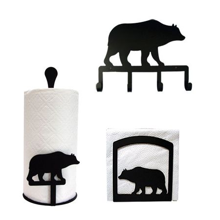 Cabin Kitchen Decor | Cabin Bear Kitchen Decor Set