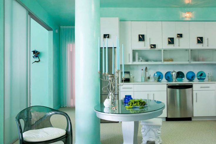 mint mint mint! wouldn't paint the entire room this color but it's really pretty anyway!