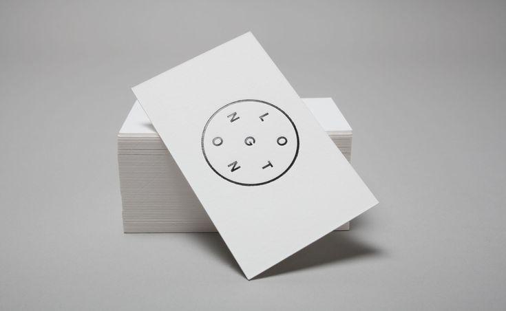 Longton business cards with black block foil detail.