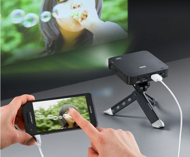 Portable Rechargeable Smartphone Projector Offers Ultimate Portability