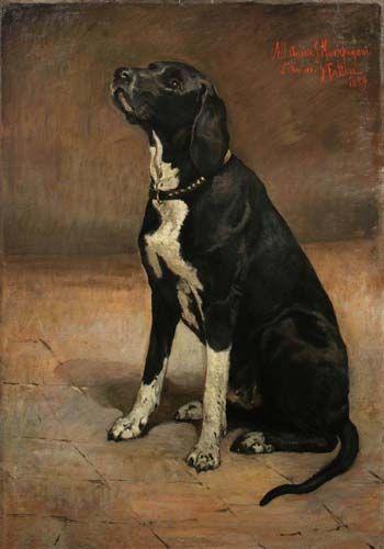 Giovanni Fattori, La canina di Montepagani (looks like my Harper)