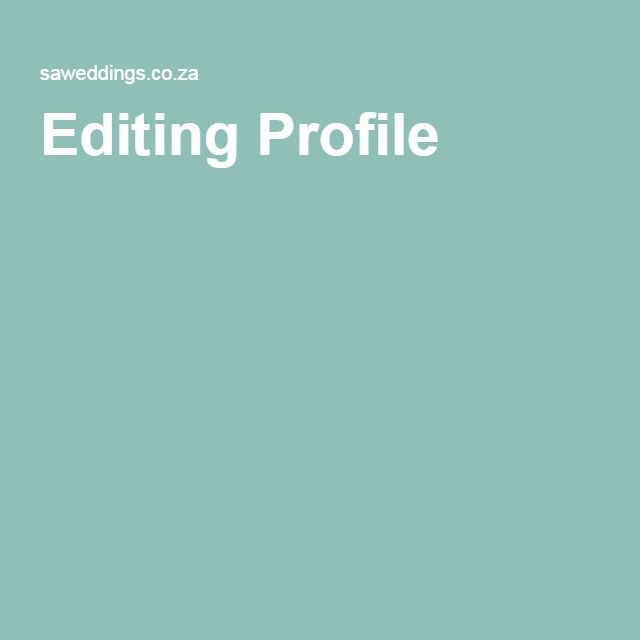 Editing Profile