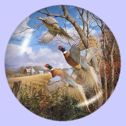 October Memories: Pheasants - Artist: David A. Maass