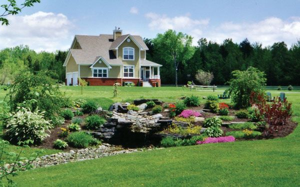 Country and Log Homes Landscaping  from houseplansandmore.com