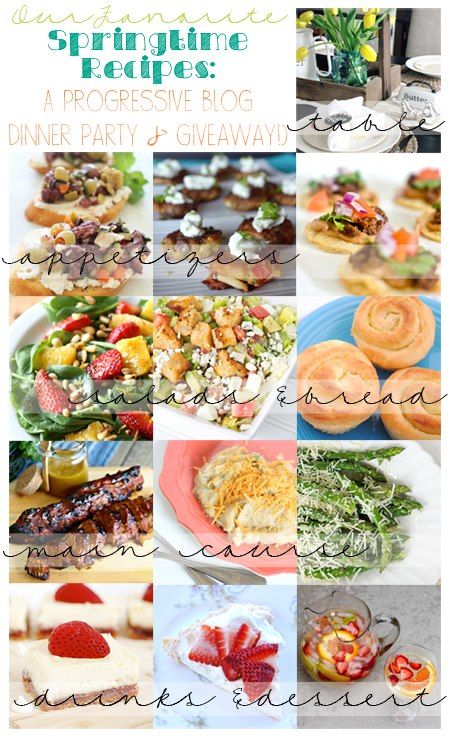 Progressive Dinner Party Ideas Part - 18: Springtime Progressive Dinner Party - Recipes For Every Course From A Group  Of Super Talented Bloggers