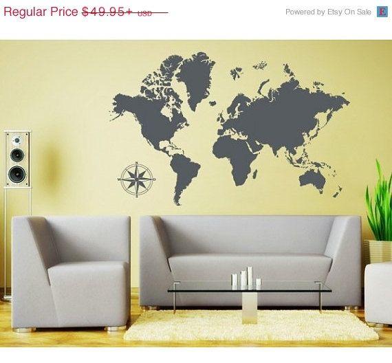 Best World Map Wall Decal Ideas On Pinterest World Map Decal - Custom vinyl wall decals falling off