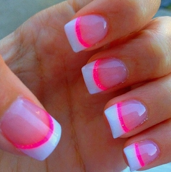 valentines day pink nails