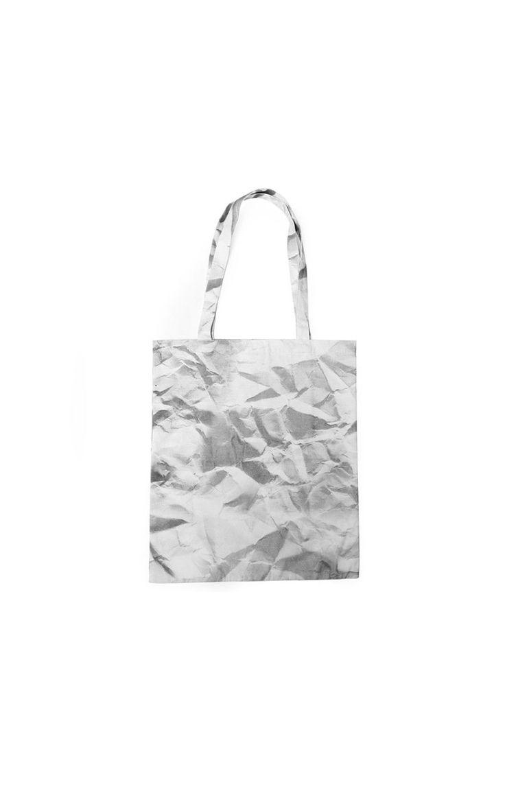 Crushed Paper Tote Bag