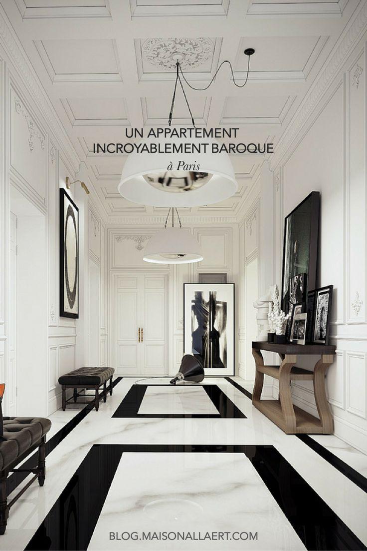 Un appartement bourgeois incroyablement baroque salons - Deco couloir baroque ...