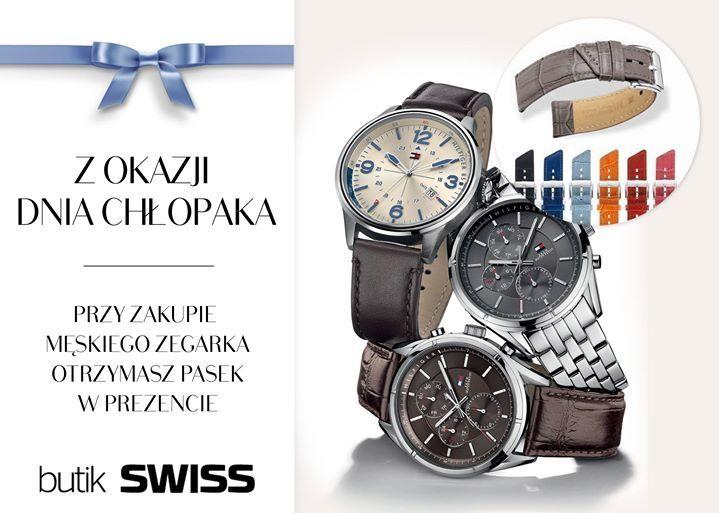 Prezent z okazji DNIA CHŁOPAKA w butiku SWISS w Porcie Łódź! Przy zakupie męskiego zegarka powyżej 300 zł otrzymasz w dniach 26 - 30 września pasek w prezencie!