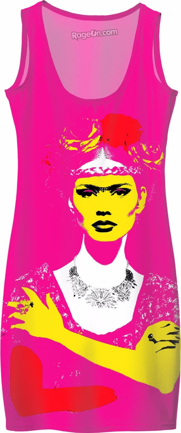 Check out my new product https://www.rageon.com/products/frida-kahlo-pink-bodycon-dress on RageOn!