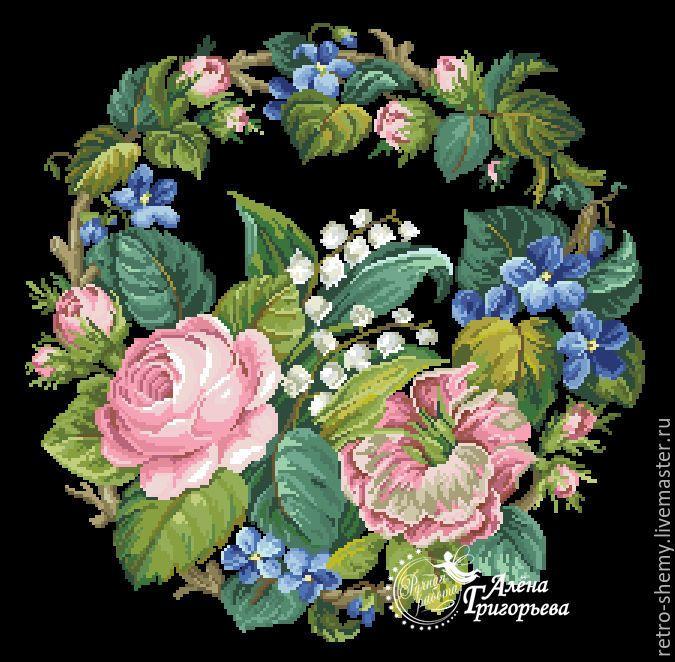 Купить или заказать Схема вышивки 'Букет с двумя тюльпанами' в интернет-магазине на Ярмарке Мастеров. Авторская реконструкция старинной схемы для вышивания крестом 1800-1900 годов по старинному, раскрашенному вручную бумажному шаблону. Издательство L W Wittich. К схеме прилагается ключ в цветовой палитре ниток DMC, а также возможные размеры готовой вышивки на 14, 16, 18 и 25 канве. Схема в электронном виде, в формате PDF. Можно заказать цветной или черно-белый вариант схемы по вашему ...