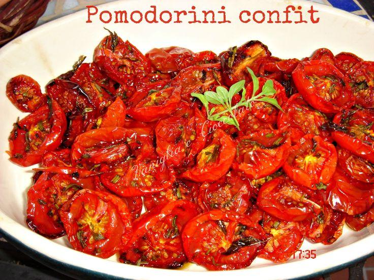 vaniglia e cioccolato: Pomodorini confit