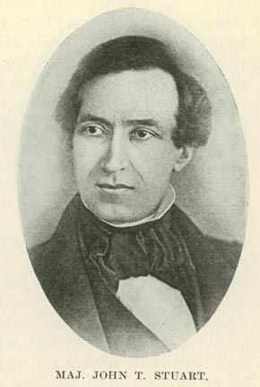 John Todd Stuart, Abraham Lincolns law partner and superior officer to Captain Abraham Lincoln in the Black  Hawk War of 1832.