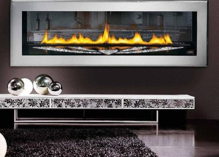 Futuristic Wall Mount Natural Gas Fireplace Design Also Snazzy Black Area Rug And Narrow Console