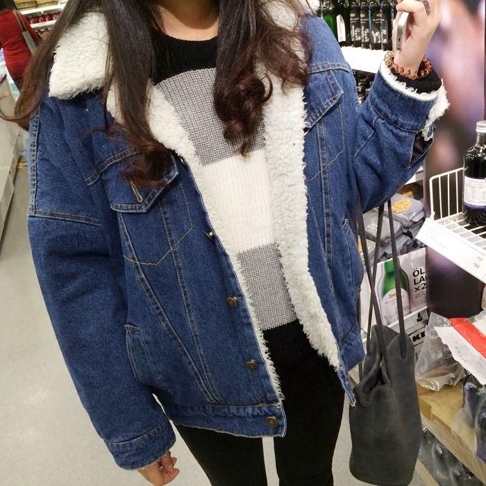 Купить товарНовых осенью и зимой толстые шерсти ягнят джинсовый жакет женский Корейский Тонкий плюс хлопок бархатная куртка диких короткий параграф wt0151 в категории Пуховики и паркина AliExpress. популярные элементы/процесс: Карманныйткань: Кашемирсостав: 51% (включительно) до 70% (включительно)подходит возраст: 18