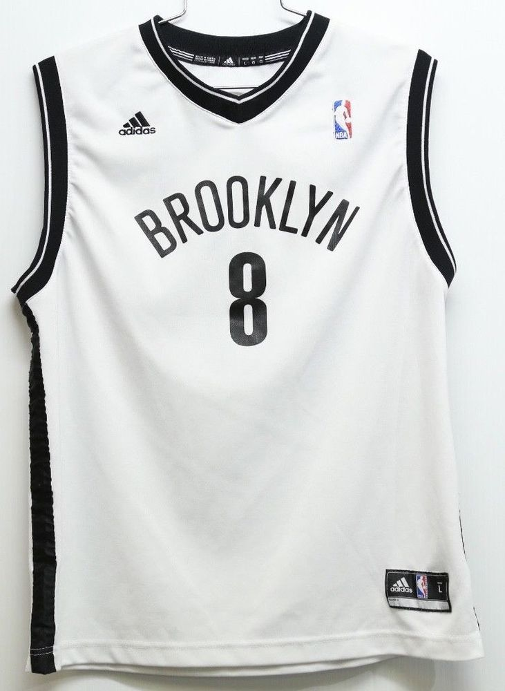 3701555ed ... sleeve shooter t shirt  mens nba adidas brooklyn nets basketball jersey  vest 8 deron williams large