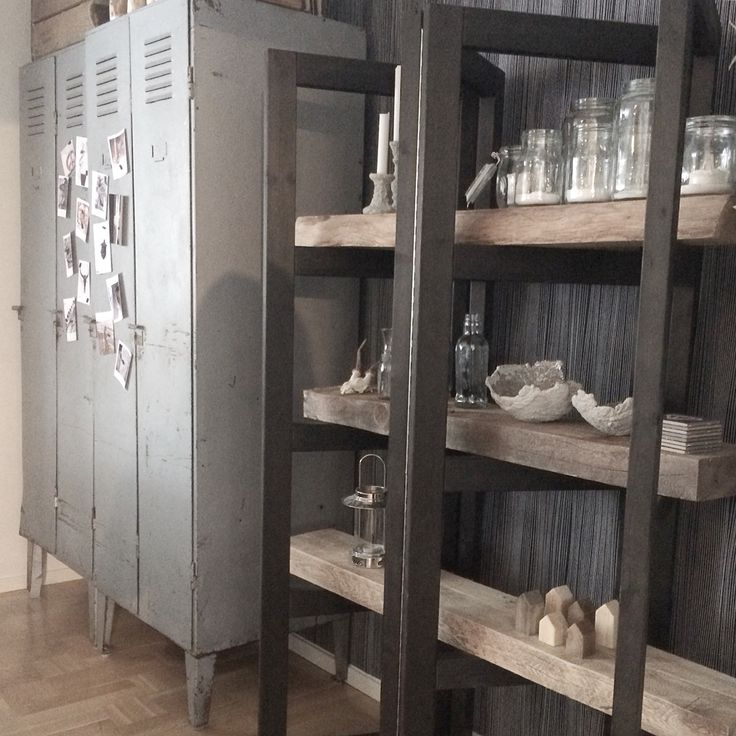 Our rustic bookcase and cabinet in plate. More picture in my instagram: houseofstrand