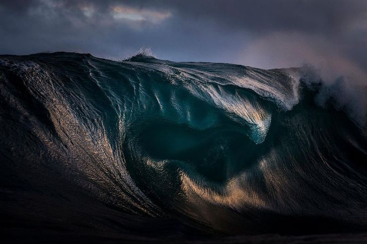 #1 Light Refracts Through The Curves Of A Breaking Wave, New South Wales, Sydney, Australia