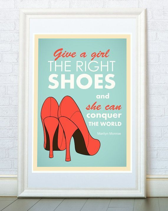 Marilyn Monroe famous quotes poster print Movie by ReStyleGraphic