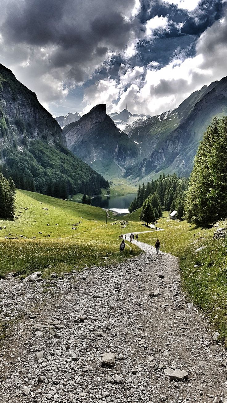 Trail to Seealpsee, Switzerland