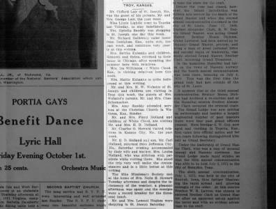 Troy, Kansas News mentioning St. Joseph, Missouri news and area on Sep 18, 1915 on page 1