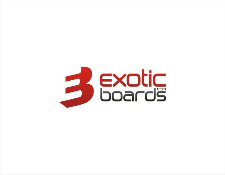 New Logo for ExoticBoards.com snowboard shop by Sigfried
