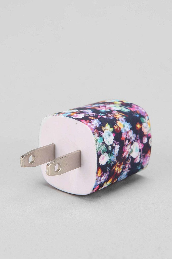 Spice up your life with a fun floral USB charger ($12) to juice up all your gadgets.
