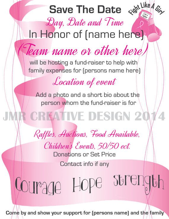15 Best Images About Fundraiser Benefit Flyers For Cancer