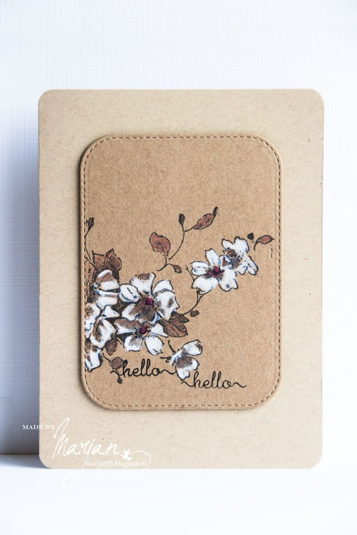 Cream colored cardstock paper studio - 759 Best Cards With Kraft Paper Images On Pinterest Cards Handmade Cards And Handmade Greetings