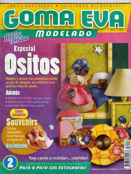 Revistas de manualidades Gratis: Como hacer ositos en foamy