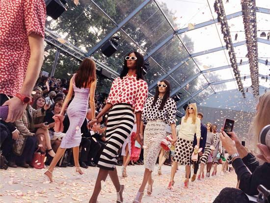 Burberry's runway show at the London Fashion Week, captured using the iPhone 5s.