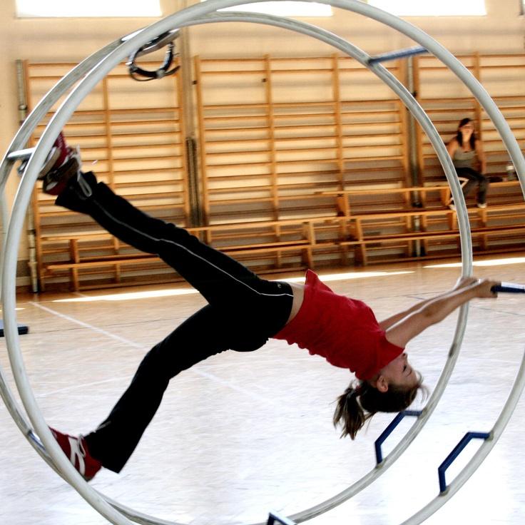 Rhönradturnen Wheel Gymnastics: What an awesome sport!  #Wheel_Gymnastics