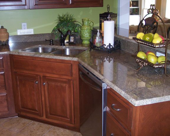 Corner kitchen sinks granite corner kitchen sink metal houses pinterest be nice corner - Kitchen designs with corner sinks ...