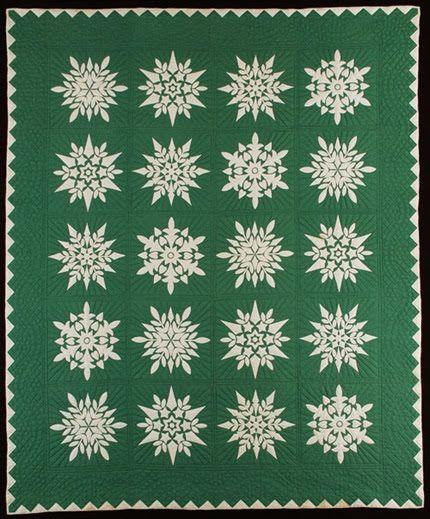 Midcentury snowflake quilt