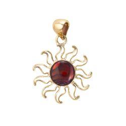 Alchemia Red Abalone Sun Pendant