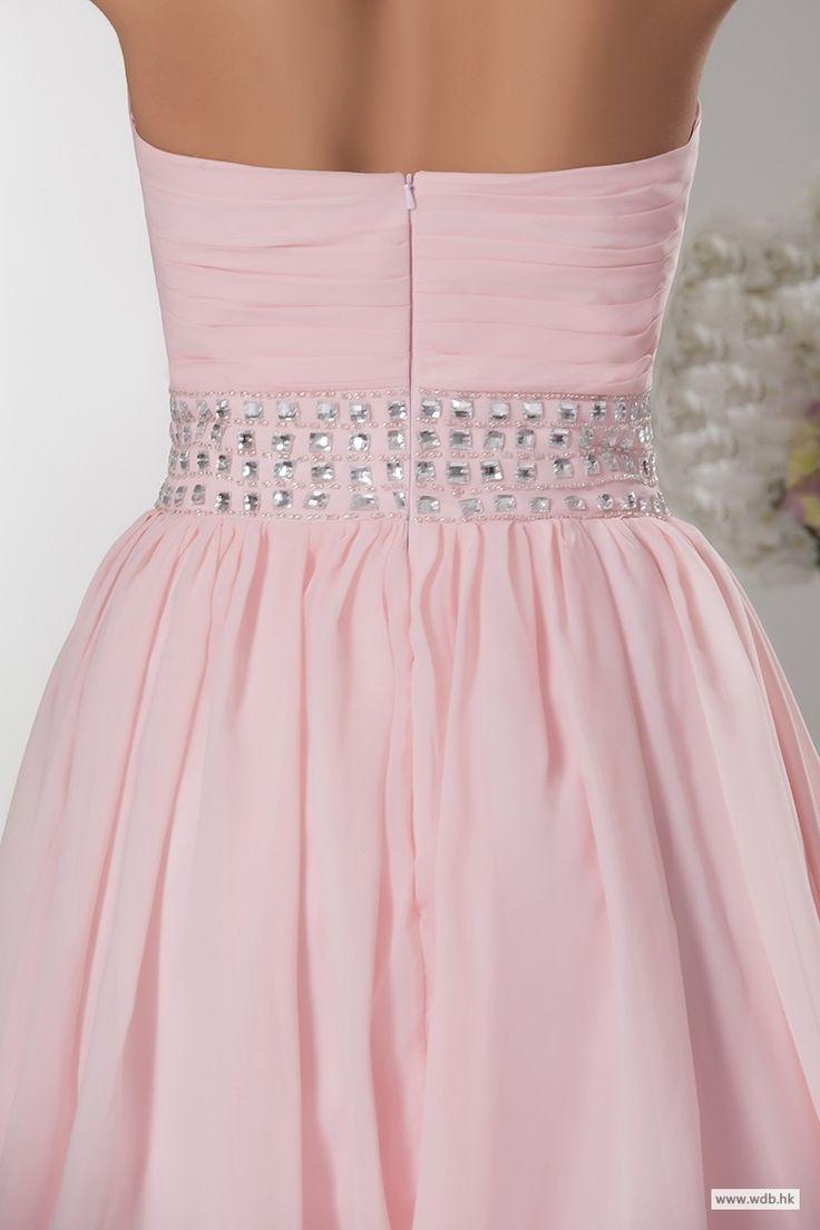 wedding dresses Pleated sweetheart A line short chiffon dress with beading $105.98