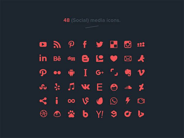 771 best icons icon icons images on pinterest 48 vector social media icons free download reheart