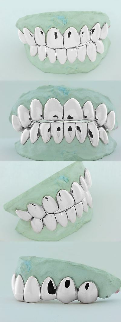 Grillz Dental Grills 152808: 10K Solid White Gold Custom Fit Real Perm Cut Grill Gold Teeth Grillz. BUY IT NOW ONLY: $250.0