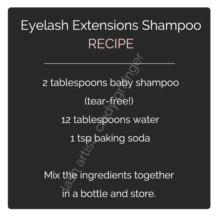 eyelash extensions care lash shampoo recipe More
