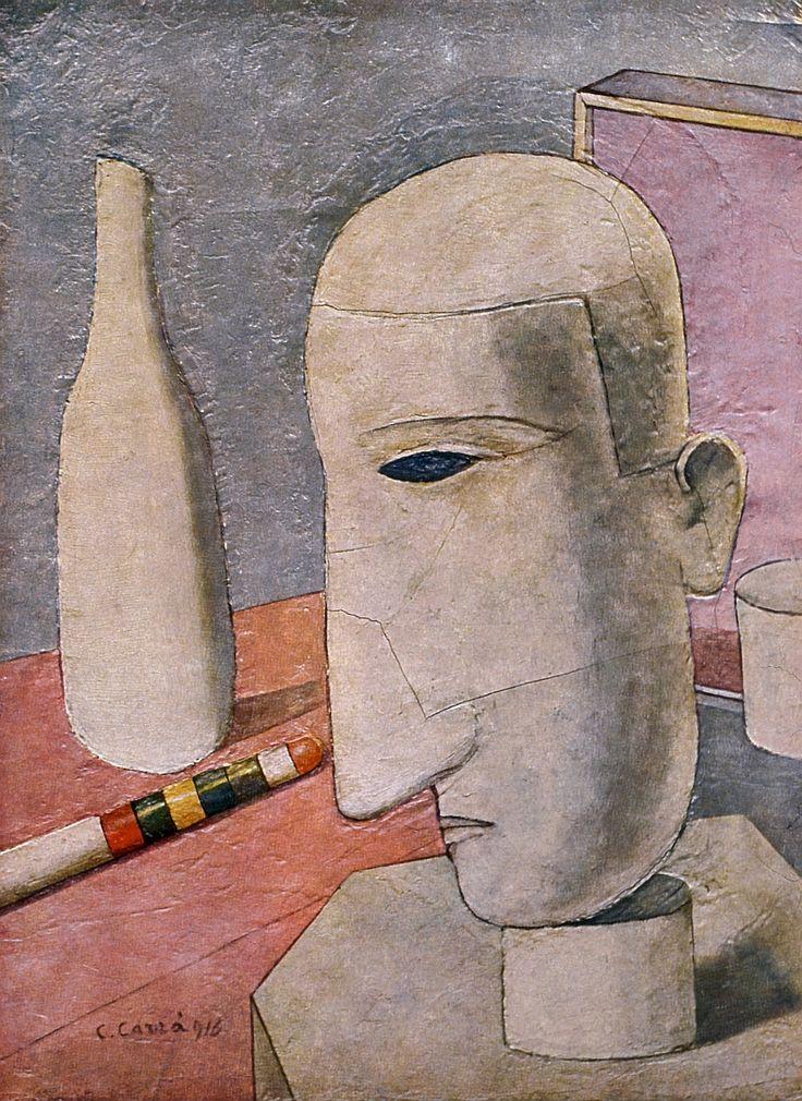 Carlo Carrà, Gentiluomo ubriaco, 1916. Oil on canvas, 60 x 45 cm, Private collection.