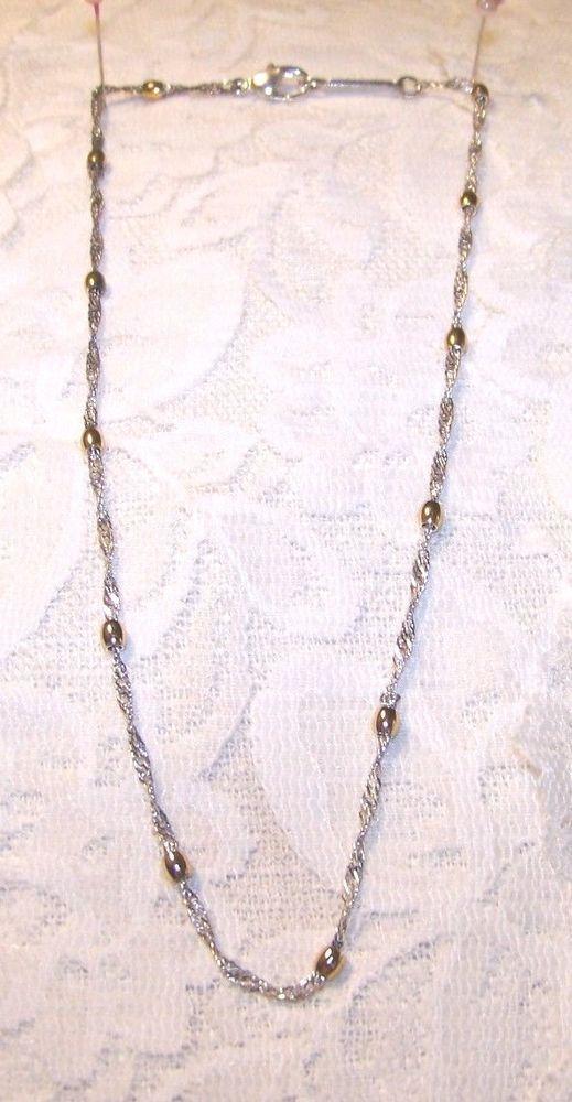 Vintage Gold & Silver Tone Necklace