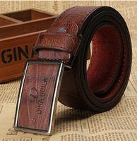 Marca cuero auténtico para hombre cinturones de lujo correa del zurriago de la alta calidad cinturones de diseño Men envío gratis