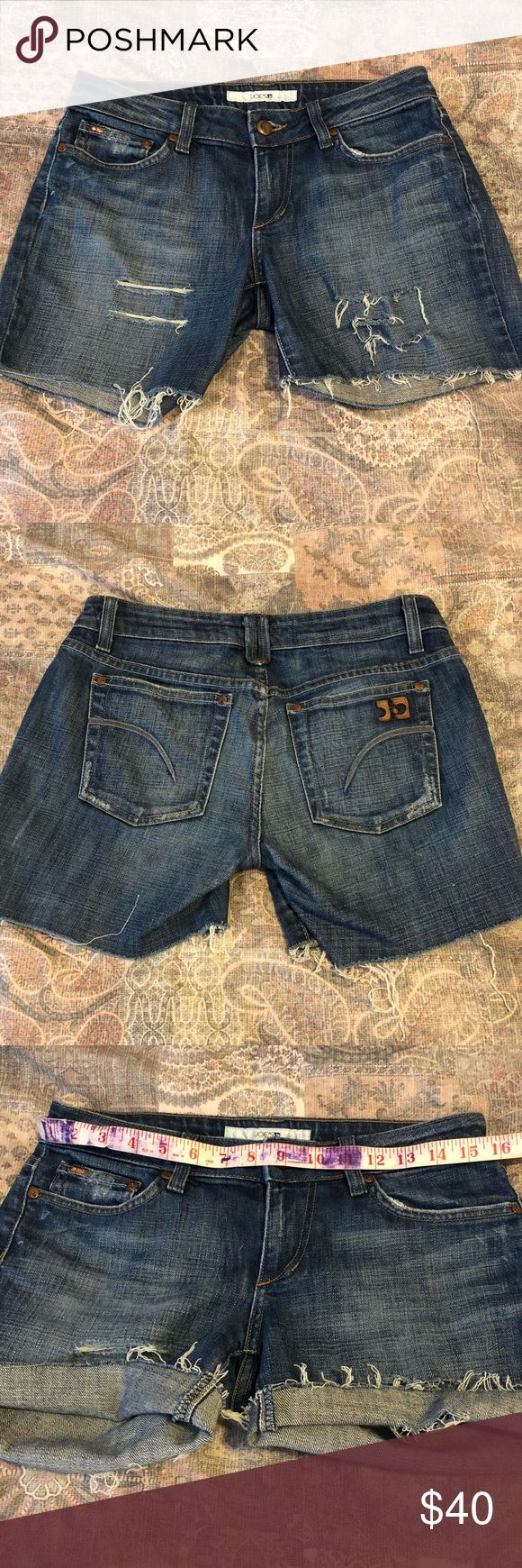 Joe's Jeans Cutoff Jean Shorts Excellent used condition! Size 28. See photos for measurements. Absolutely NO TRADES Joe's Jeans Shorts Jean Shorts