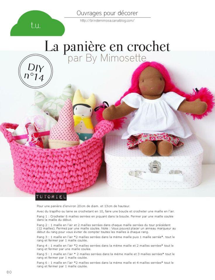 Panière crochet - Plumetis magazine- tuto gratuit