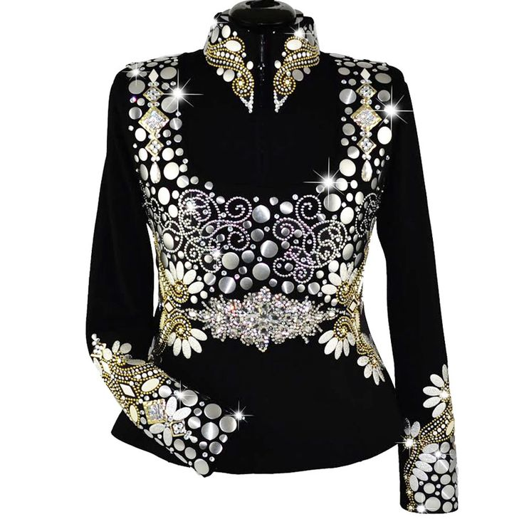 Gold and Silver Vest w/Matching Shirt (L)